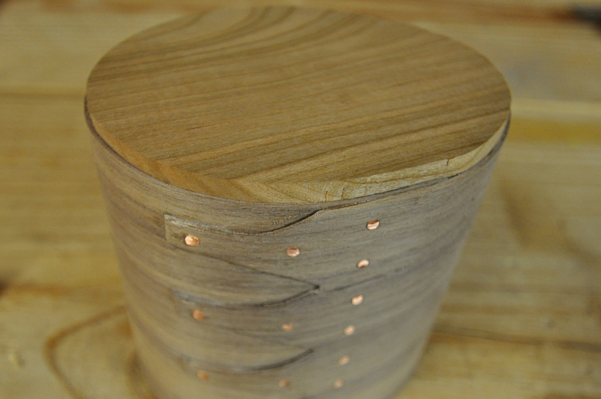 Walnut container in progress - fitting the bottom